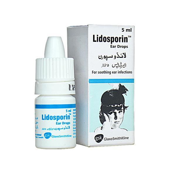 Lidosporin 5ml Ear Drops