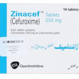Zinacef Tablet 250 mg 14's Cefuroxime