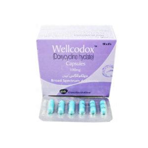 Wellcodox Capsules 100 mg Doxycycline 60's