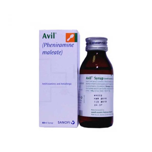 Avil Syrup 15mg 5ml 60ml