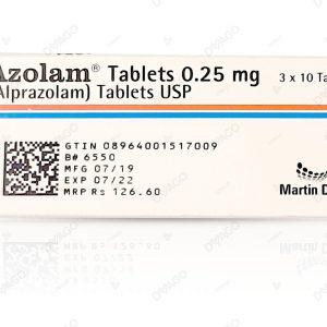 Azolam 0.25mg Tablet