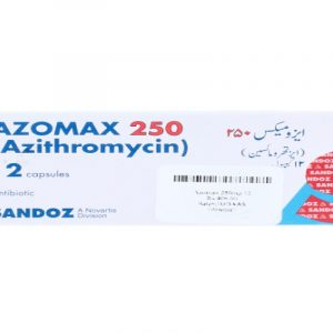Azomax 250mg capsules 12's