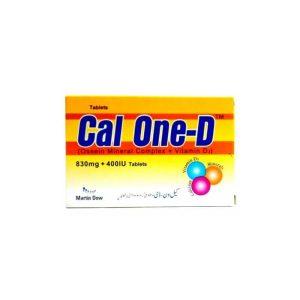 Cal-One-D Tab 830mg 400IU 30's