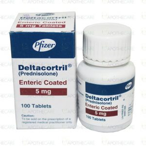 Deltacortril Enteric Coated Tab 5mg 100's
