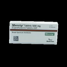 Mercip Tablets 500mg 1x10's