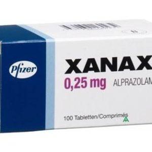 Xanax 0.25mg tablet